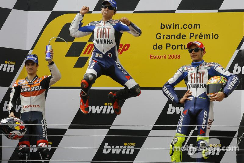 2008: MotoGP, 4º - Jorge Lorenzo - Yamaha; Dani Pedrosa e Valentino Rossi