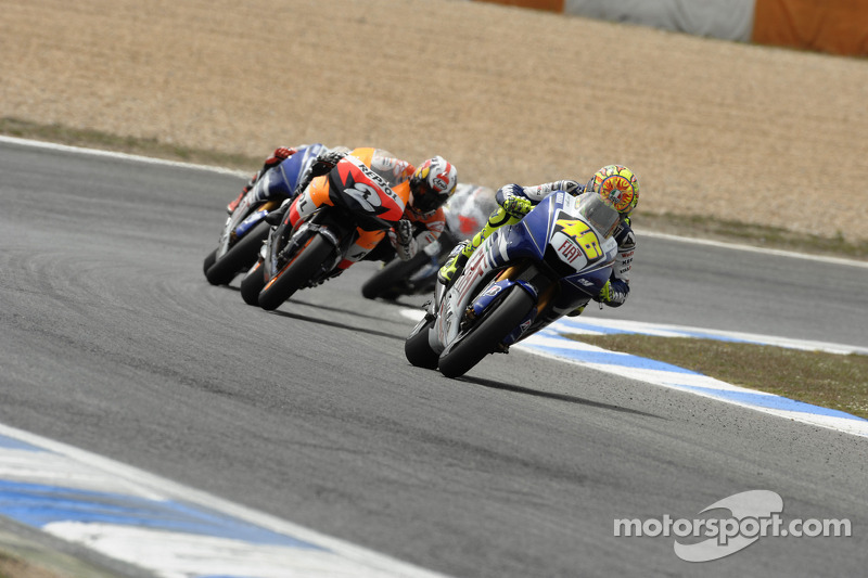 Valentino Rossi en tête