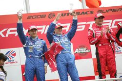 GT500 podium: second place Tsugio Matsuda and Sébastien Philippe