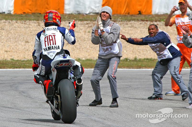 Jorge Lorenzo fête sa victoire