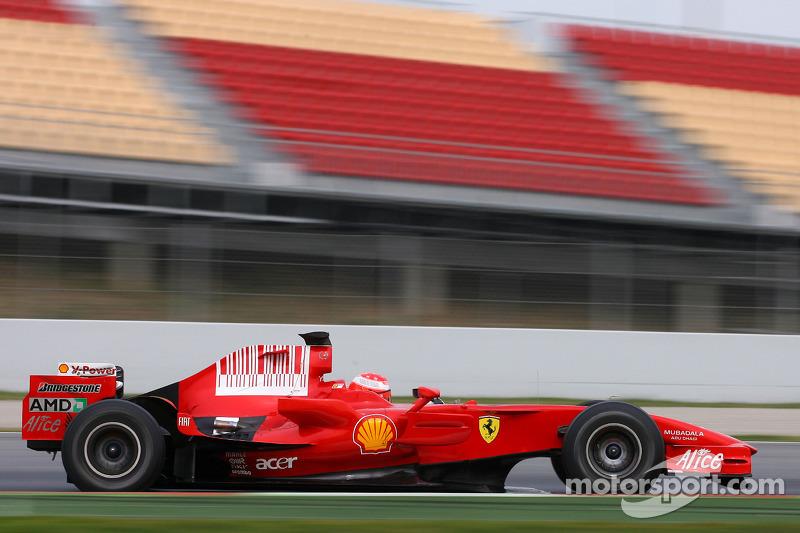 2008: Testing with Ferrari