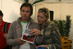 Honda Welcome Party: Dan Wheldon and his wife Susie