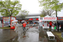 A rainy qualifying session at Twin Ring Motegi