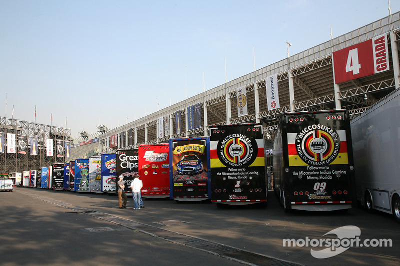 Nascar Nationwide Series Haulers At Mexico City