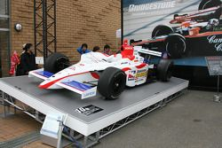 An IndyCar series car on display