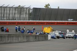 Crews try to repair weepers in the track