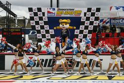 Charming cheerleaders perform for the fans