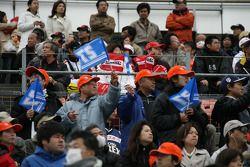 Twin Ring Motegi fans watch pre-race activities