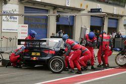 Arrêt au stand pour Mattias Ekström, Audi Sport Team Abt Sportsline, Audi A4 DTM