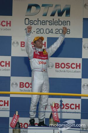 Podium: race winner Timo Scheider