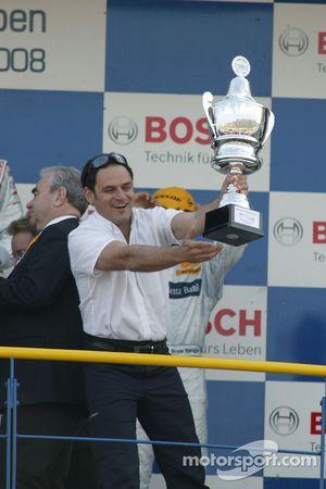 Podium: Hans-Jurgen Abt, Teamchef Abt-Audi
