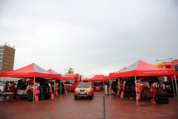 Team Repsol Mitsubishi Ralliart preparation
