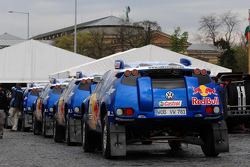 Volkswagen Motorsport team at scrutineering