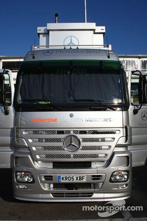 McLaren Mercedes truck