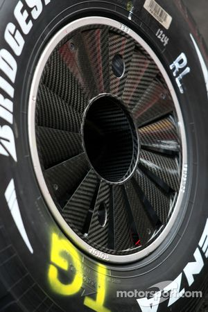Toyota TF108 yeni rear wheels