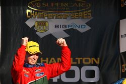 A very happy Steven Richards takes out second (Ford Performance Racing Ford Falcon BF)