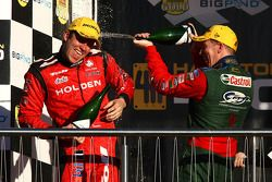 Garth Tander (Toll Holden Racing Team Commodore VE), Steven Richards (Ford Performance Racing Ford F