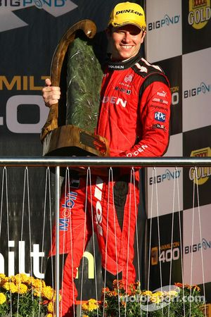 Garth Tander wins all three races and takes out the first Hamilton 400 (Toll Holden Racing Team Commodore VE)