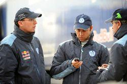 Dieter Depping, Giniel de Villiers y Carlos Sainz