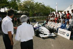 Bernie Ecclestone and Dr. Mario Theissen, BMW Sauber F1 Team, BMW Motorsport Director with the 2008