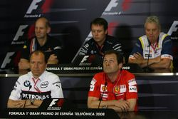 FIA press conference: Adrian Newey, Red Bull Racing, Technical Operations Director, Sam Michael, Wil