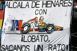 Fernando Alonso, fans banner