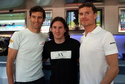 Mark Webber, Red Bull Racing, Lionel Messi, FC Barcelona and Argentina International, football playe