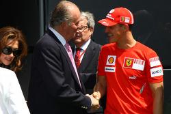 Michael Schumacher, Test Driver, Scuderia Ferrari and Juan Carlos I, King of Spain