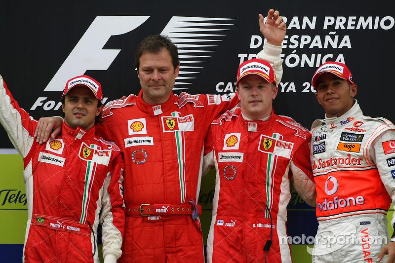 Massa foi o segundo e Hamilton o terceiro