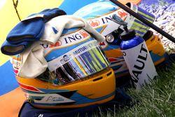 Helmets of Fernando Alonso, Renault F1 Team