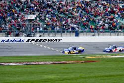Ron Hornaday takes the checkered flag