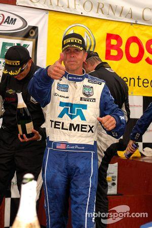 DP podium: class and overall winner Scott Pruett