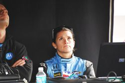 Danica Patrick watches the end of the race