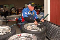 Brumos Racing technician at work