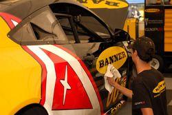 Banner Racing technician at work