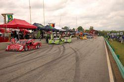 Pre race activity on pit lane