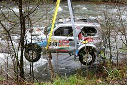 Retrieving the car of Ellen Lohr and Antonia De Roissard after exploring the riverbed a little to deep