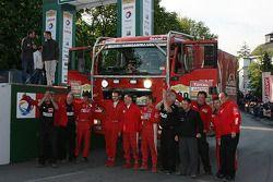 Podium: truck winners Hans Stacey, Eddy Chevaillier and Bernard Der Kinderen