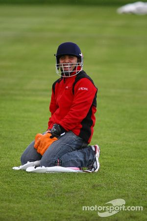 Khalil Beschir, driver of A1 Team Lebanon at the Kent County Cricket ground