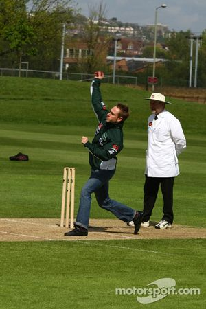 Adam Carroll, driver of A1 Team Ireland at the Kent County Cricket ground