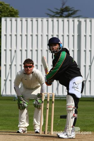Adrian Zaugg, driver of A1 Team South Africa at the Kent County Cricket ground