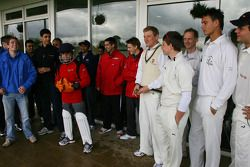 A1GP Drivers at the Kent County Cricket ground