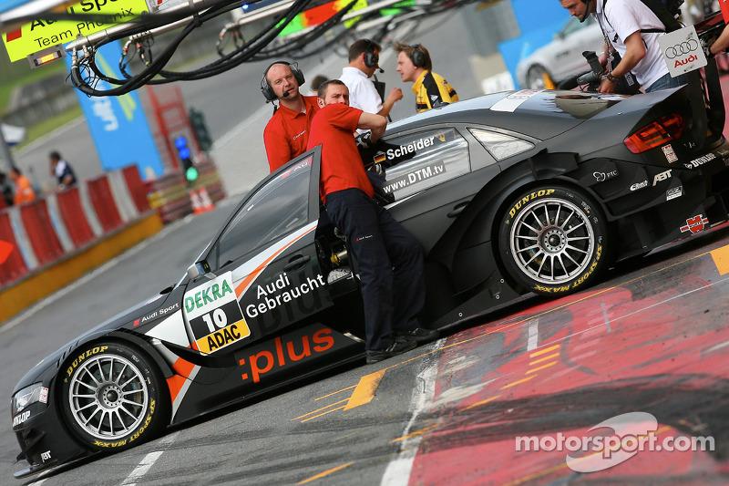 Timo Scheider, Audi Sport Team Abt, Audi A4 DTM pushed back to garage
