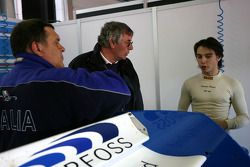 Edoardo Piscopo, driver of A1 Team Italy, Gary Anderson
