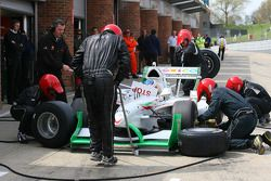 David Martinez, driver of A1 Team Mexico pit stop