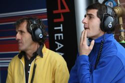 Alain Prost, and Nicolas Prost, driver of A1 Team France