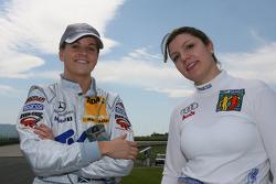 Susie Stoddart, Persson Motorsport AMG Mercedes, AMG Mercedes C-Klasse and Katherine Legge, Futurecom T.M.E. Audi A4 DTM 2006