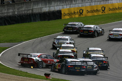 Start: Crash between Mike Rockenfeller, Audi Sport Team Rosberg, Audi A4 DTM, Martin Tomczyk, Audi S
