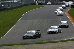 Paul di Resta, Team HWA AMG Mercedes, AMG Mercedes C-Klasse leads Tom Kristensen, Audi Sport Team Ab