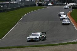 Jamie Green, Team HWA AMG Mercedes, AMG Mercedes C-Klasse leads Paul di Resta, Team HWA AMG Mercedes